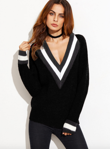 http://www.shein.com/Striped-Deep-V-Neck-And-Cuff-Sweater-p-395336-cat-1734.html